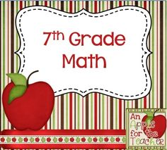 Resources and ideas for teaching 7th grade math