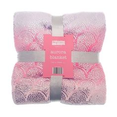 Fleece Throw Dog Scottie Pattern White Blanket Roll 120x150cm Pink Or Brown Comfortable Feel Home & Garden Home Décor