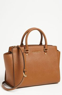 MICHAEL Michael Kors 'Selma - Large' Leather Satchel | Nordstrom- inspired by my cousin Sammy!