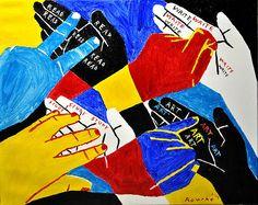 Nancy Rourke Paintings — In Deaf Schools Sign Language Art, American Sign Language, Language Arts, Canvas Size, Oil On Canvas, Deaf School, Deaf Art, Deaf Culture, Arts Ed