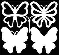 butterfly SVG files and a great sample card on the page.Free butterfly SVG files and a great sample card on the page. Paper Butterflies, Paper Flowers, Butterfly Template, Butterfly Cutout, Butterfly Stencil, Butterfly Pattern, Butterfly Cards, Bird Silhouette, Free Silhouette