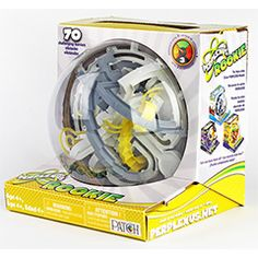 Perplexus - Rookie and over 7,500 other quality toys at Fat Brain Toys. This puzzle maze twists and turns, takes you in and out, down dips, and around winding spirals. 75 barriers to your success draw you into the action. Guide the metal ball through the winding tracks to make it to the finish line!
