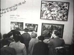 Monuments Men, Hitler's1937 Munich Exhibition of Degenerate Art showcasing artwork Hitler and the Nazi regime considered inferior. These artists' works were purged from German museums. Some were burned, others auctioned off to fill the Nazi war coffers.