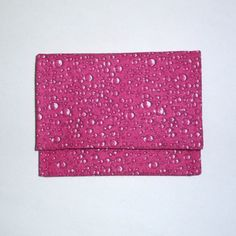 Mini wallet  pink raindrop by ksewingbasket on Etsy, $6.00