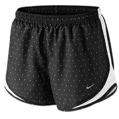Buy Nike Women's Polka Dot Print Tempo Shorts, Black/White from our Women's Running Wear range at John Lewis & Partners. Sporty Outfits, Nike Outfits, Athletic Outfits, Athletic Wear, Athletic Clothes, Sporty Clothes, Fitness Outfits, Athletic Shorts, Fitness Tips