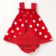 Infant Lady Bug Knit Dress & Panty.
