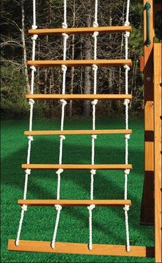 Best 11 Rope ladder for observation room wall.Com Best 11 Rope ladder for observation room wall. Kids Backyard Playground, Natural Playground, Playground Design, Backyard For Kids, Backyard Ideas, Playground Toys, Garden Kids, Backyard Games, Outdoor Games