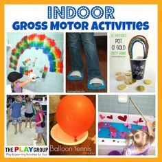 80 Gross Motor Skills Activities from The PLAY Group - Parent Teach Play Motor Skills Activities, Gross Motor Skills, Indoor Activities, Sensory Activities, Craft Activities For Kids, Physical Activities, Learning Activities, Preschool Activities, Shape Activities