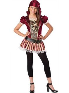 girls swashbucklin sass girls costume wholesale pirate halloween costume for girls
