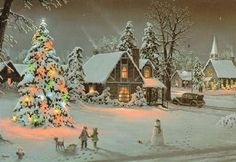 'Let it Snow' sung by Dean Martin – American singer, film actor, television star and comedian. Love this christmas song The Christmas Song, Christmas Scenes, Christmas Past, Vintage Christmas Cards, Christmas Carol, Winter Christmas, Christmas Lights, Christmas Playlist, Christmas Houses