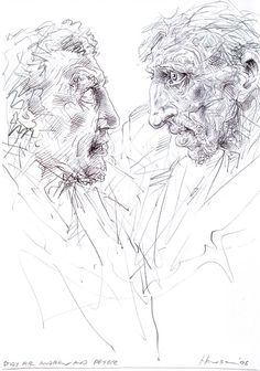 Study for Saint Andrew and Peter, Peter Howson