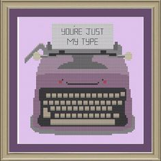 You're just my type cute by nerdylittlestitcher on Etsy, $3.00