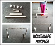 Your Therapy Source: Homemade Hurdles-for gross motor planning and body awareness. Gross Motor Activities, Indoor Activities For Kids, Gross Motor Skills, Therapy Activities, Toddler Activities, Indoor Games, Fun Activities, Pediatric Physical Therapy, Occupational Therapy