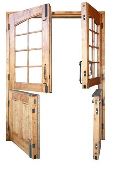 I love this double dutch door! Perfect to letting the air in, but also keeping the dog confined inside!