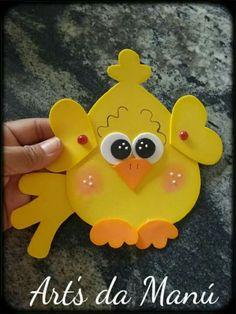 Duck Crafts, Foam Crafts, Preschool Crafts, Diy And Crafts, Arts And Crafts, Paper Crafts, Baby Quiet Book, Diy Y Manualidades, Basket Crafts