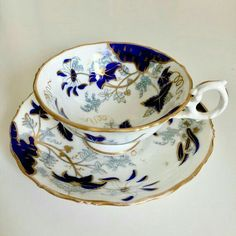 Beautiful teacup and saucer made by Samuel Alcock around Samuel Alcock was one of the many potters in Staffordshire such as Spode, Coalport, H&R Daniel and many others during the and Alcock spent his formative years working for the great Spode pottery