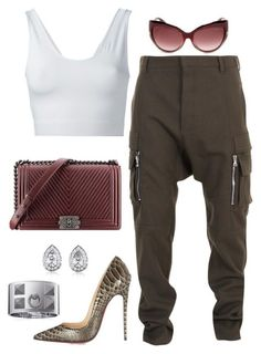 Untitled #517 by fashionkill21 on Polyvore featuring Helmut Lang, Christian Louboutin, BERRICLE, Tom Ford, Balmain and Chanel