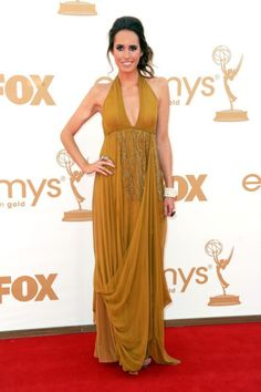 Louise Roe In Halter Gowns At Emmy Awards
