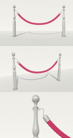 Rope Barrier - 3DOcean Item for Sale
