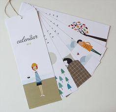 What a cute calendar. I'm beginning to love the work of Blanca Gomez.