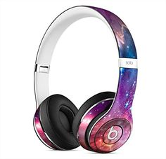 Star Cluster through a Purple Galaxy Skin for Apple Beats...