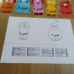 Produkt - URČOVÁNÍ PÁDŮ – PŘÍŠERKY A RUCE School Hacks, School Tips, Montessori, Puzzles, Snoopy, Education, Learning, Character, Ideas
