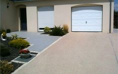 Projet d'aménagement d'allée de garage en béton désactivé