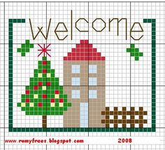 Romy's Cross Stitch Patterns: welcome home