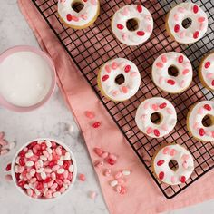 Bake these delicious donuts at home and decorate with your favorite Jelly Belly jelly beans for a tasty treat.