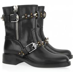 Gucci Studded Motorcycle Boots