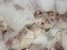 Rice bags. Bolsitas de arroz para bodas.  Www.eljardindemamaana.com Www.facebook.com/eljardindemamaana.com