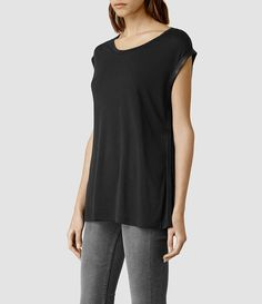 Women's Amber Top (Washed black/Black) - product_image_alt_text_2