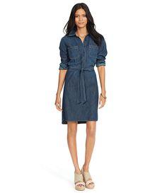Lauren Ralph Lauren Denim Shirtdress | Dillards.com
