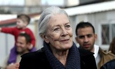 Vanessa Redgrave at the refugee and migrant hospitality camp in Eleonas, Athens.