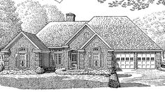 French Country House Plan with 1923 Square Feet and 3 Bedrooms from Dream Home Source | House Plan Code DHSW70018