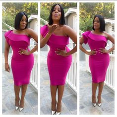 Niecy Nash Killed On The Red Carpet In Pink Ruffle One Shoulder Dress…