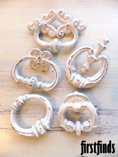 MISFIT 5 ring pulls ornate shabby chic handles
