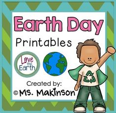 FREE Earth Day Printables - looking for low-prep activities for Earth Day? Earth Day Worksheets, Earth Day Activities, Spring Activities, Preschool Activities, Therapy Activities, Science Curriculum, Kindergarten Science, Kindergarten Classroom, Earth Day Crafts
