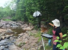 "Painting at Amity Creek this morning - the first day of the ""Duluth Plein Air: Paint Du Nord"" Invitational, sponsored by The Duluth Art Institute. #DuluthPleinAir15"