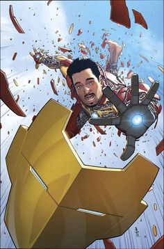- Tony is chasing the evil Madame Masque as her actions threaten to rip all of reality apart! But it is WHO Tony is teaming up with to do this that will have everyone talking. - And a real good look a