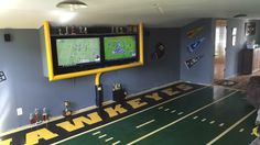 Iowa Hawkeye Game Room / ManCave
