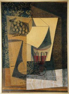 Emilio Pettoruti, Racimo de uvas, 1914. Collage sobre papel, 48 x 34,5 cm, Fundación Telefónica, Madrid