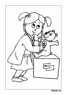 Nurse Life Coloring Book Awesome Free Coloring Pages Of Doctor Nurse Coloring Pages For Boys, Animal Coloring Pages, Coloring Book Pages, Printable Coloring Pages, Coloring Sheets, Adult Coloring, Colouring, Body Parts Theme, Social Stories Autism