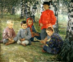 Russian Painter: Bogdanov-Belsky Nikolai - 'Virtuoso'