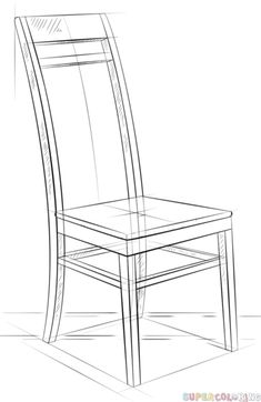 Pencil Drawing Tutorials How to draw a chair step by step. Drawing tutorials for kids and beginners. 3d Drawing Tutorial, Drawing Tutorials For Kids, Pencil Drawing Tutorials, Art Tutorials, Drawing Ideas, 3d Drawing Techniques, Drawing Lessons, Art Lessons, 3d Drawings