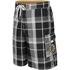 #BostonBruins Trophy #Plaid Swim Trunks - Boston Bruins swim trunk feature a team colored plaid design and has an embroidered #BostonBruinslogo $33.99 http://www.newenglandusa.com/Boston-Bruins/boston-bruins-pro-shop.php
