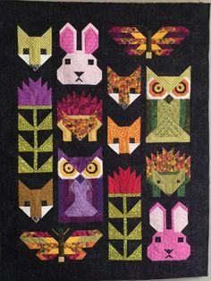 "My interpretation of Elizabeth Hartman's ""Fancy Forest"" quilt pattern. June 2016"