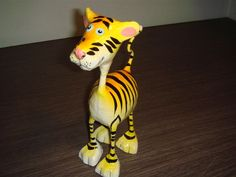 paper mache cats   Thailand hand made paper mache Tiger doll ~ Paper mache thai craft