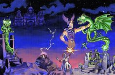 In artist Kevin Mayle took it upon himself to paint awesome reproductions of original Advanced Dungeons & Dragons cover art. Dungeons And Dragons Art, Dungeons And Dragons, Nostalgia Art, Dark Artwork, Advanced Dungeons And Dragons, Game Art, Fantasy Illustration, Cover Art, Mazes And Monsters
