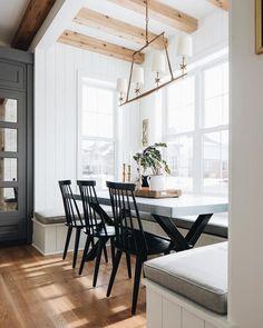 Interior Modern, Kitchen Interior, Home Interior Design, Interior Design For Apartments, Home Renovation, Home Remodeling, Casa Magnolia, Dining Nook, Dining Table